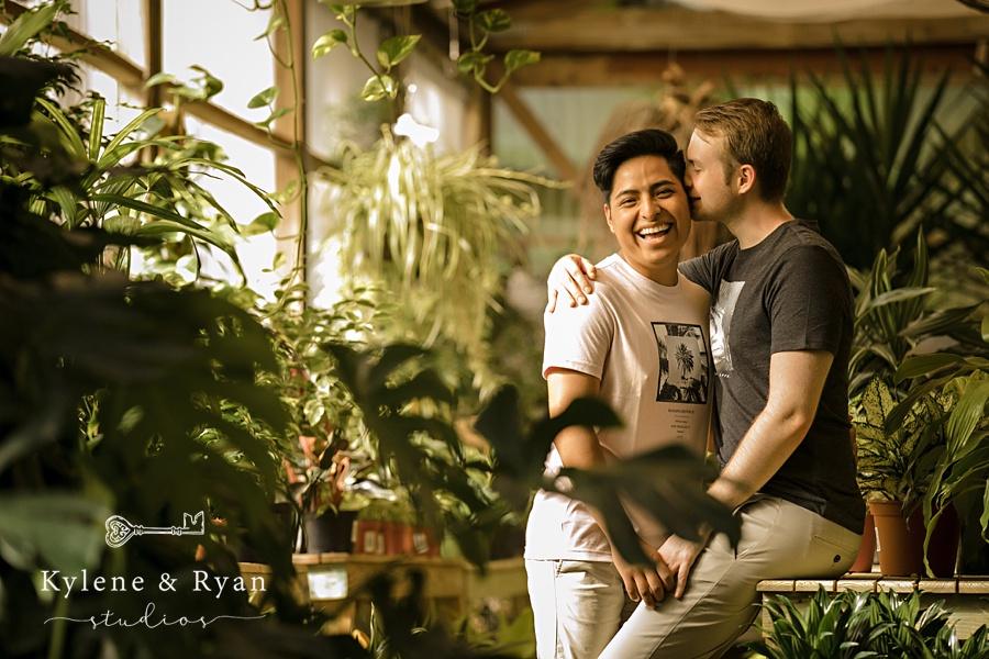 Sam & Eduardo | Engagement Love at the Tallahassee Nurseries